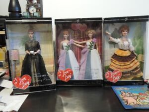 I LOVE LUCY BARBIE COLLECTION INCLUDES TWO DOUBLE SETS