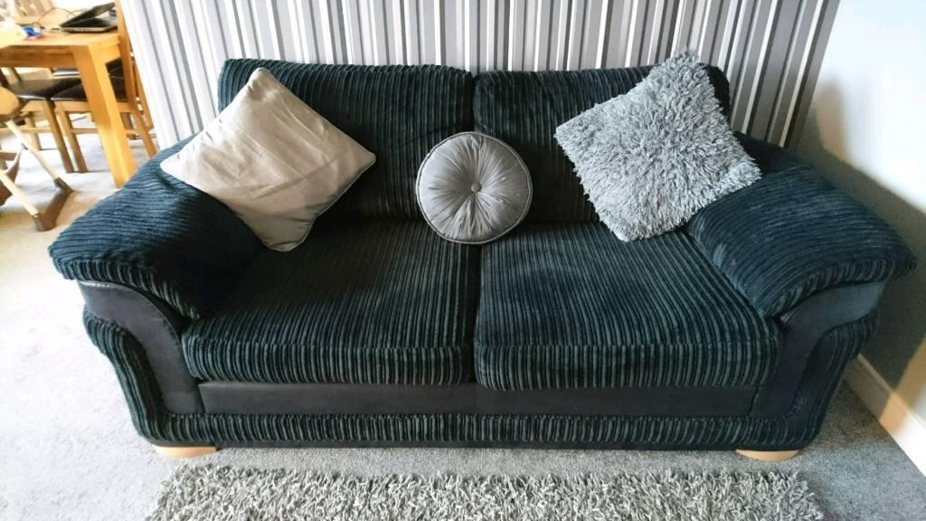 Dfs Destiny Black 2 Seater Sofa In Granton Edinburgh