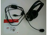 Microsoft stereo headset, headphones & microphone, comfortable and excellent quality