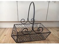 Vintage / rustic style metal basket great for weddings or on the kitchen for decorative storage