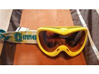 Kids 'Sinner' ski goggles (yellow, anti-fog)