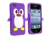 Purple Penguin iPhone 4/4S Case
