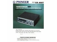 Vintage Pioneer SX-600T Amplifier/ Tuner - FWO - Recently Serviced