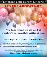 Embrace Your Curves Lingerie - 4th Anniversary Event