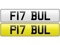PIT BULL / LAMBORGHINI private number plate cherished personalised car reg - F17 BUL
