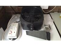 Expelair wall mounted fan heater hold or cold