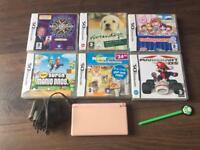 Pink Nintendo DS Lite with games bundle