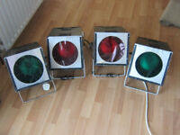 Set of 4 large spot lights - would suit lighting for live stage music