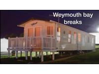 8 Berth Caravan 4 hire @Weymouth Bay, Dorset OCTOBER HALF TERM