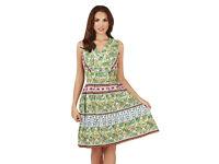B/NEW SEALED Pistachio Ladies Summer Womens Printed Beach holiday Dress UK 8-10 12-14 16-18 20-22