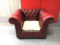 Genuine chesterfield arm chair sofa, Free delivery
