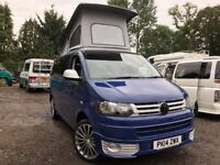 2014 VW TRANSPORTER T5 .1 POP TOP 4 BERTH NEW CONVERSION 2TD 6 SEATER CAMPERVAN