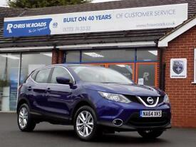 NISSAN QASHQAI 1.5 DCi ACENTA 5dr *Diesel MPV with Zero Road Tax (blue) 2014