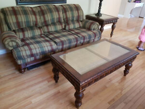 Sofa, love seat and coffee table set