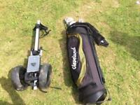 Golf clubs half set 2x putters good condition golf trolley golf towel al good condition