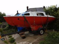Sadler SeaWych 19ft Trailer Sailor Sailing cruiser project