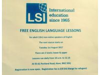 FREE ENGLISH LANGUAGE CLASSES IN HOVE IN AUGUST