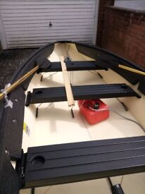 Small Boat For Sale, Folding Portabote 12ft Genisis 4 series, with Mariner 6hp short shaft outboard
