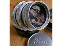 Leica Summicron 50mm F2 Dual Range with Goggles