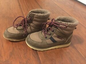 Brown winter shoes toddler size 11