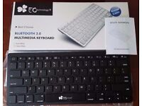 EC Technology Ultra Slim Bluetooth 3.0 Keyboard - Black