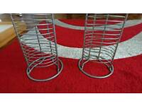 Cd rack racks stainless steel 50 music storage furniture
