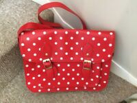 Red and white spots bag