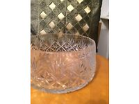 Heavy Crystal Glass Fruit Bowl