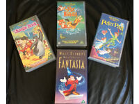 JOB-LOT of 4 ORIGINAL DISNEY VHS CHILDRENS VIDEOS!
