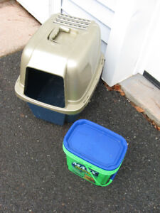 CAT CONTAINER AND LITTER