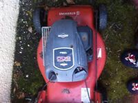 3 X Briggs And Stratton Self Propelled Lawn Mowers. Plus Engine.