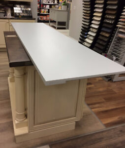 Wooden counter top in slate