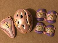 Disney Princess Helmet, knees & elbow pads plus seat cover