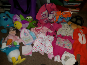 Baby girl clothes and toys....