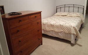 DRESSER and BED