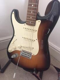 Left handed Fender Stratocaster Squire