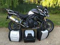 Triumph Tiger Explorer 1200 with Triumph luggage