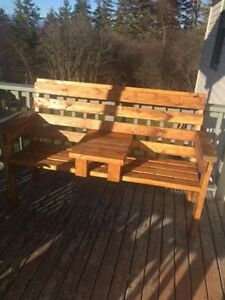 Quality homemade benches and chairs