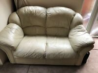 Two seater leather sofa for free buyer collects