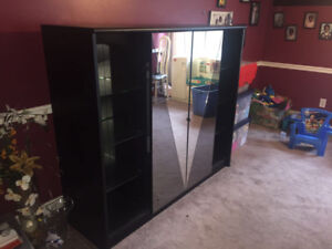 TV wall unit/glass display! MUST GO ASAP!!