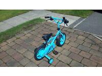 Boys Trax 12 inch bike. Blue colour.