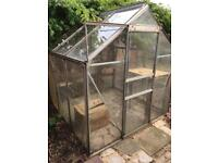 Green house good size and condition with sliding door entrance