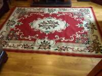 Large Persian type rug 8 foot by 6 foot