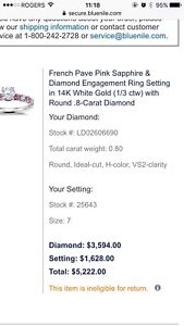 Engagement ring brand new with certificates