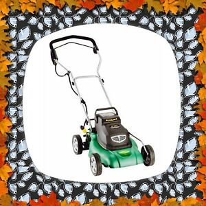 "New condition 24V 14"" Yardworks Rechargable electric mower."