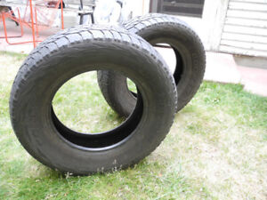 P265/70R18 Cooper Discoverer A/T3, 2 tires. really good shape!
