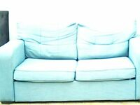 teal sofa bed , good conditon