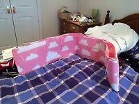 Pink cot bumper