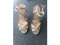 Carvela gold sandals heels size 6