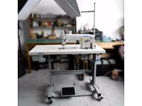 Industrial Sewing Machine Juki DDL-8700 with Table, Servo-Motor, Thread Stand and Accessories